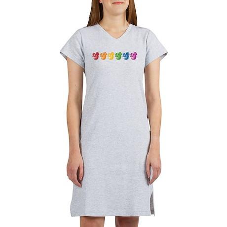 Rainbow Squirrels Women's Nightshirt
