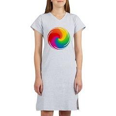 Rainbow Swirl Women's Nightshirt