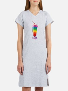 Rainbow Stripe Milkshake Women's Nightshirt