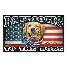Patriotic - Golden Retriever Decal