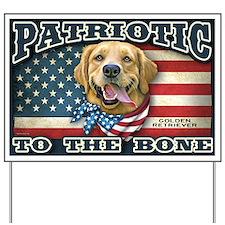 Patriotic - Golden Retriever Yard Sign