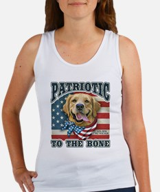 Patriotic - Golden Retriever Women's Tank Top