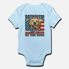 Patriotic - Golden Retriever Infant Bodysuit