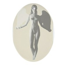 Angel Woman Oval Ornament