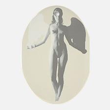 Angel Woman Oval Ornament