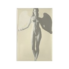 Angel Woman Rectangle Magnet