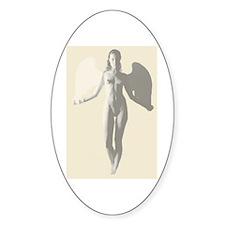 Angel Woman Oval Decal