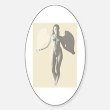 Angel Woman Oval Decal