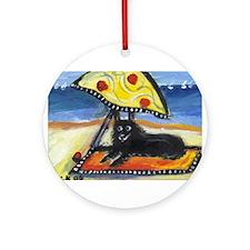 SCHIPPERKE at the beach Ornament (Round)