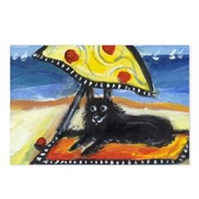 SCHIPPERKE at the beach Postcards (Package of 8)