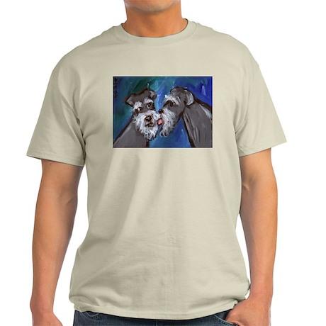 SCHNAUZER kisses schnauzer Ash Grey T-Shirt