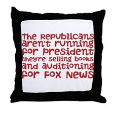 Republican Audition Throw Pillow
