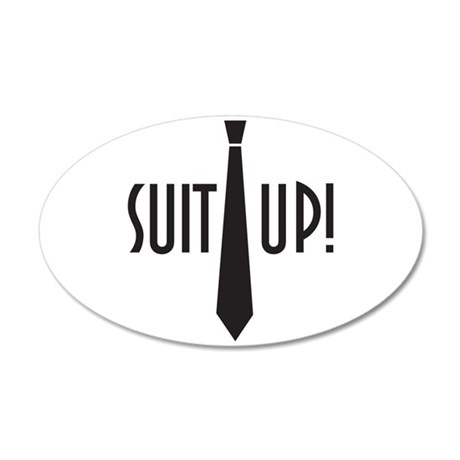 Suit Up! 38.5 x 24.5 Oval Wall Peel