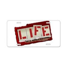Musical Life Aluminum License Plate