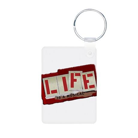Musical Life Aluminum Photo Keychain