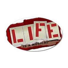 Musical Life 22x14 Oval Wall Peel
