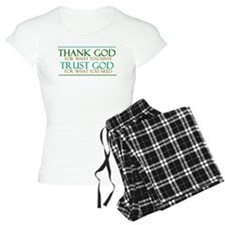 Thank God - Trust God Pajamas