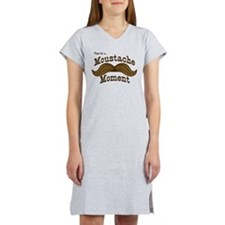 Time For A Moustache Moment Women's Nightshirt