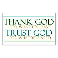 Thank God - Trust God Decal