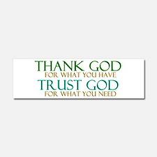 Thank God - Trust God Car Magnet 10 x 3
