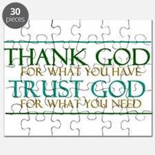 Thank God - Trust God Puzzle