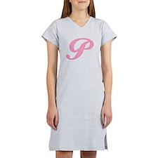 P Initial Nightshirts Women's Nightshirt