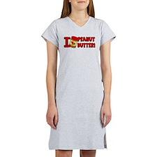 I Love Peanut Butter Women's Nightshirt