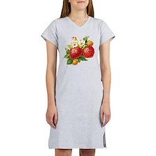 Retro Strawberry Women's Nightshirt