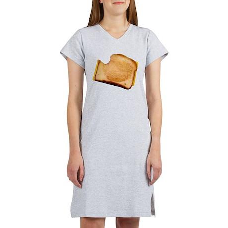 Plain Grilled Cheese Sandwich Women's Nightshirt
