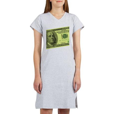 Hundred Dollar Bill Women's Nightshirt