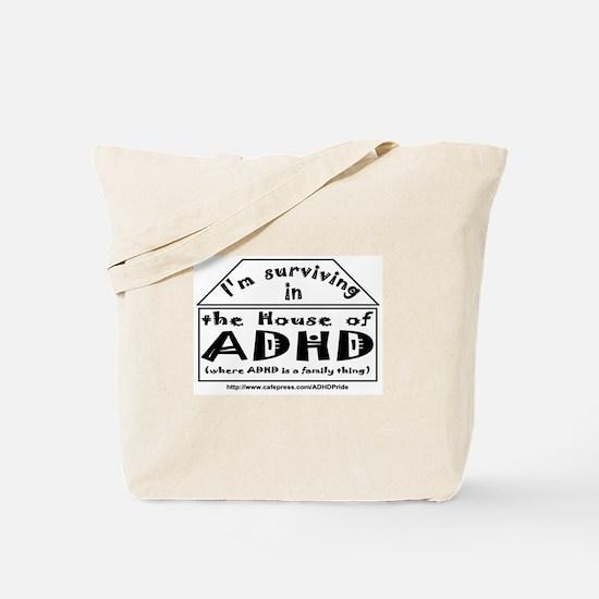House of ADHD tote bag