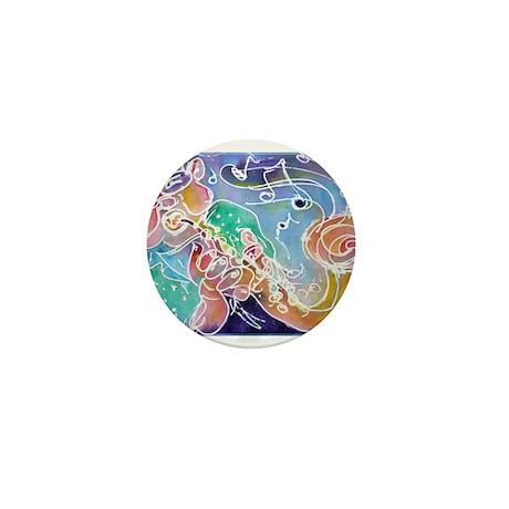 Music, colorful, art, Mini Button