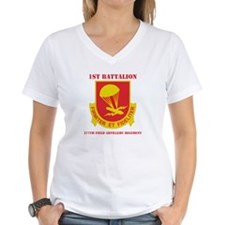 DUI - 1st Bn - 377th FA Regt with Text Shirt
