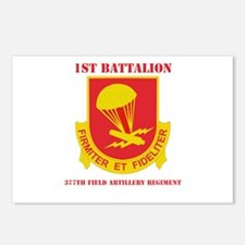 DUI - 1st Bn - 377th FA Regt with Text Postcards (