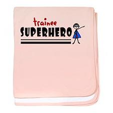 'Trainee Superhero' baby blanket