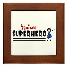 'Trainee Superhero' Framed Tile