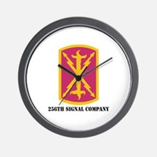 DUI - 256th Signal Company with Text Wall Clock