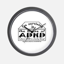 House of ADHD wall clock