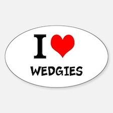 Cute Wedgie Sticker (Oval)