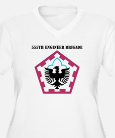 SSI - 555th Engineer Brigade with Text T-Shirt