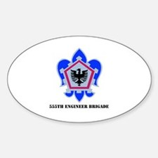 DUI - 555th Engineer Brigade with Text Decal