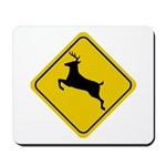 Deer Crossing Sign Mousepad