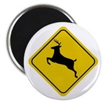 Deer Crossing Sign Magnet