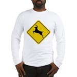 Deer Crossing Sign Long Sleeve T-Shirt