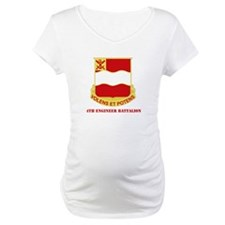 DUI - 4th Engineer Bn White T-Shirt with Text Mate