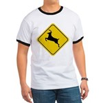 Deer Crossing Sign Ringer T