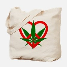 Peace Love and Pot Tote Bag