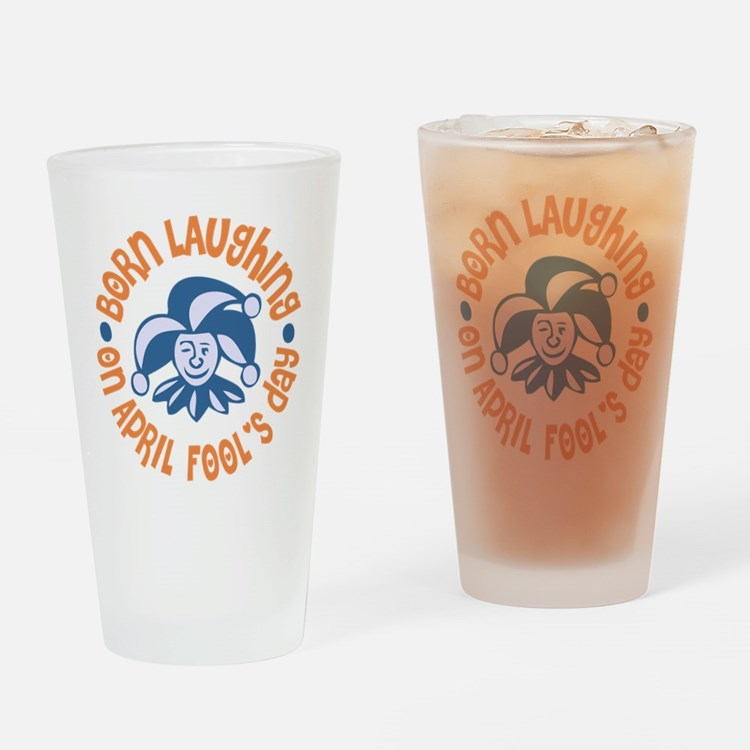 April Fool's Birthday Drinking Glass