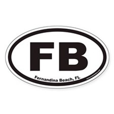 Fernandina Beach FB Euro Oval Decal