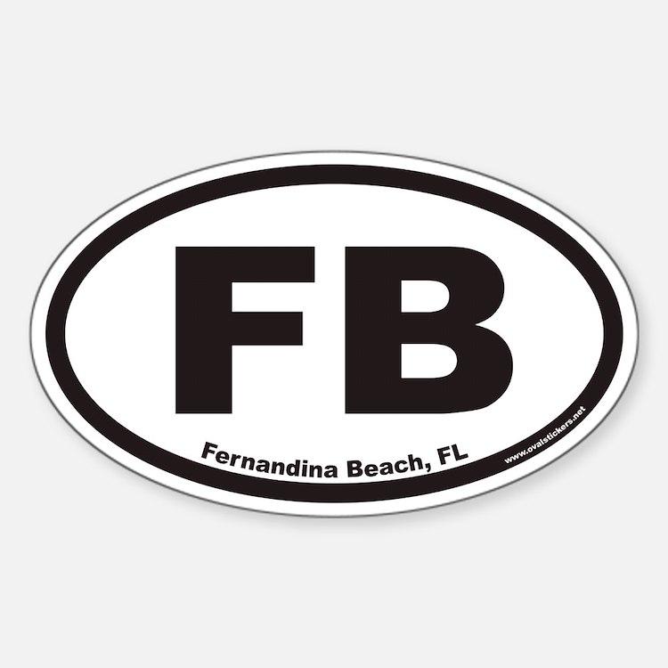 Fernandina Beach FB Euro Oval Decal